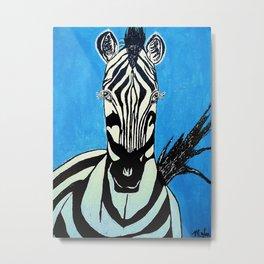Zebra Acrylic Metal Print