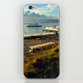 Dover Docks from the White Cliffs iPhone Skin