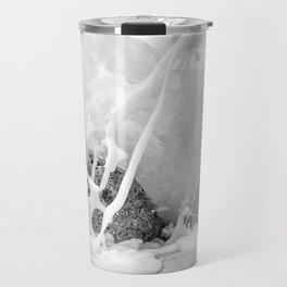 The Shore (Black and White) Travel Mug