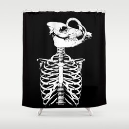 Jack in Irons: Skeleton Shower Curtain
