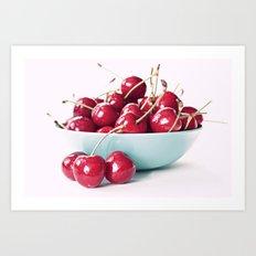 Bowl of Cherries Art Print
