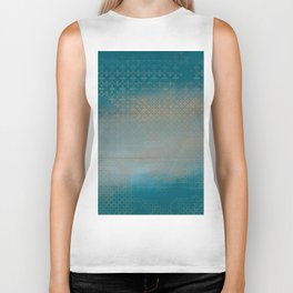 ABUR with Gold on Turquoise Biker Tank