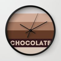 chocolate Wall Clocks featuring Chocolate by 16floor