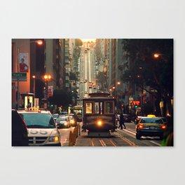 Cable car - San Francisco, CA Canvas Print