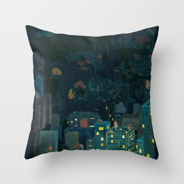 Losing The Forest Throw Pillow