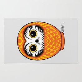 Orange Fukuro Daruma Rug