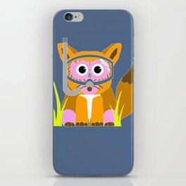 Pink Snorkel Fox iPhone Skin