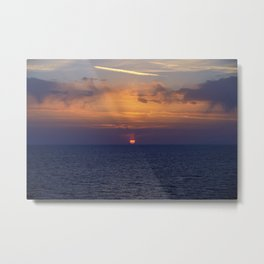 Red Sun At Sunset. Italy Metal Print