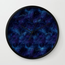 Blue space Wall Clock