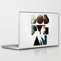 woodstock Laptop & iPad Skins featuring Bob Dylan Font Colour by Fligo