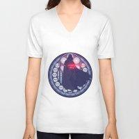 darth vader V-neck T-shirts featuring Darth Vader  by NicoleGrahamART