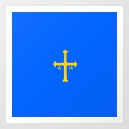 flag of asturias Art Print