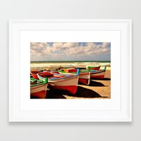 boats Framed Art Prints featuring boats by  Agostino Lo Coco