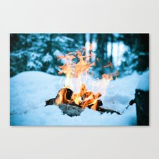 Ice and Fire Canvas Print