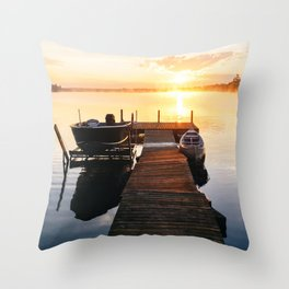 Sunrise at the Cottage Throw Pillow
