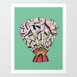 Sunrise Shell Art Print