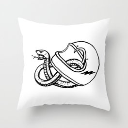 vipera b/w Throw Pillow