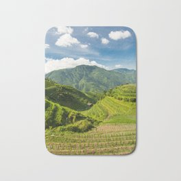 Landscape photo of rice terraces in China Bath Mat