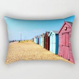 East Coast Beach Huts Rectangular Pillow