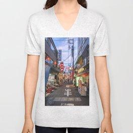 China Town Unisex V-Neck