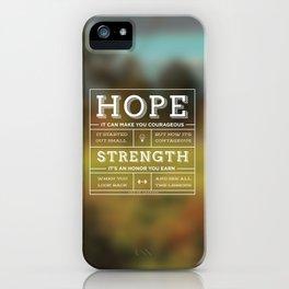 Hope & Strength iPhone Case