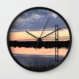 Humber Bridge Dawn Wall Clock