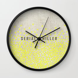 Serial Chiller on Confetti Wall Clock