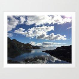 Sunshine Near Loch Coruisk Art Print