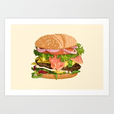 Tasty burger Art Print