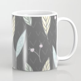 The one with the leaves - Gray Coffee Mug