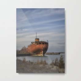 John Sherwin Great Lakes Freighter Metal Print