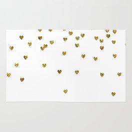 Gold Hearts Rug