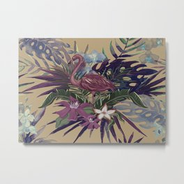 Tropical Wild Flamingo Metal Print