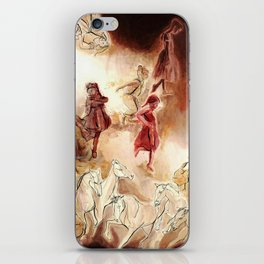 Imagined dream horses children dancing painting iPhone Skin