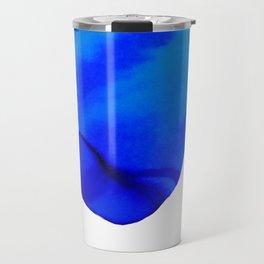 Dark Blue Watercolor Travel Mug