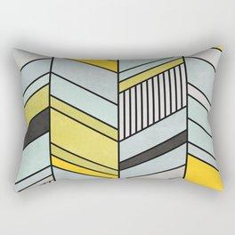 Colorful Concrete Chevron Pattern - Yellow, Blue, Grey Rectangular Pillow