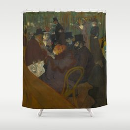 Henri de Toulouse-Lautrec - At the Moullin Rouge Shower Curtain