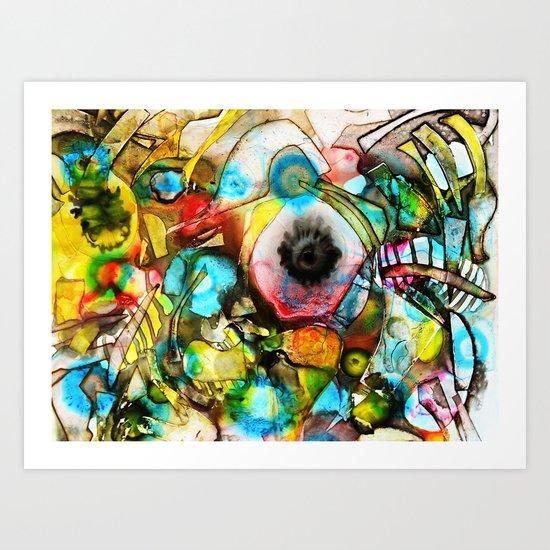Crushed Candy Art Print