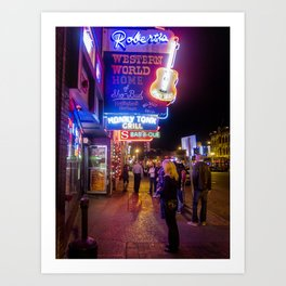 Roberts Western World- Nashville, TN. Art Print