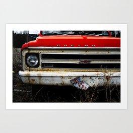 Abandon Chevy Art Print