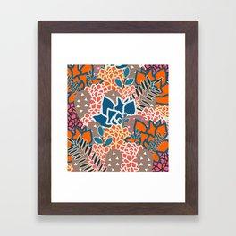 Succulents crowd Framed Art Print