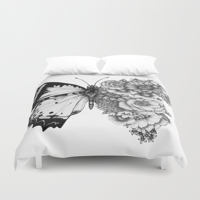 Butterfly in Bloom Duvet Cover