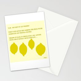 Lemon's Revenge Stationery Cards