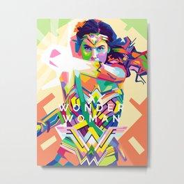 wonderwoman Pop art Metal Print