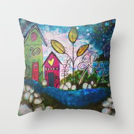 Twilight & Whimsy Throw Pillow