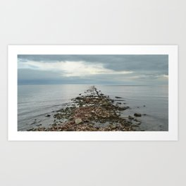Pier Remnants Art Print