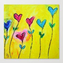 Amor de colores Canvas Print