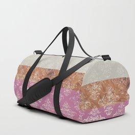 Layers Damask Rose Duffle Bag