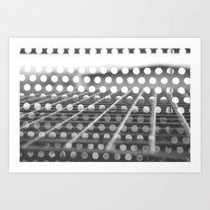 Through the Holes Art Print