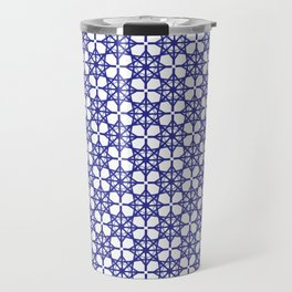 Seamless pattern with blue figures Travel Mug